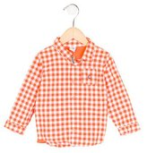 Petit Bateau Boys' Gingham Long Sleeve Shirt