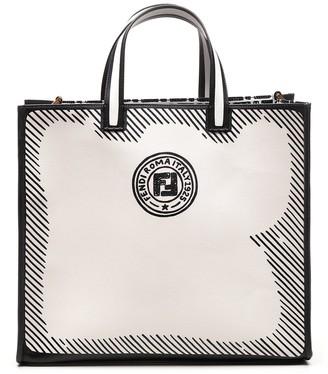 Fendi Logo Stamp Shopper Bag