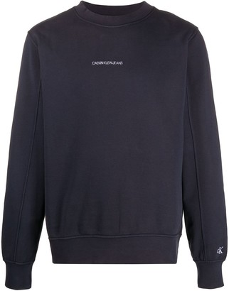 Calvin Klein Jeans Logo-Embroidered Mock-Neck Sweatshirt