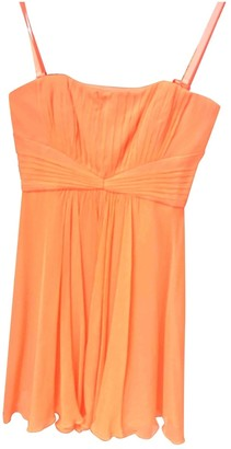 BCBGMAXAZRIA \N Orange Silk Dress for Women