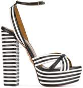 Aquazzura Striped sundance 140 platform sandals