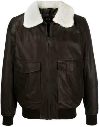 A.P.C. shearling collar jacket