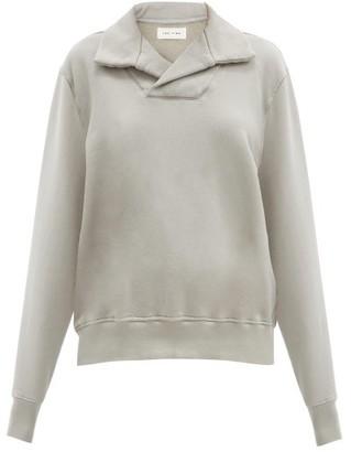 LES TIEN Yacht Brushed-back Cotton Sweatshirt - Light Grey