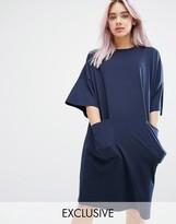 Monki Oversized Pocket T-Shirt Dress