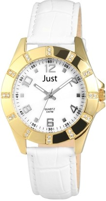 Just Watches Women's Quartz Watch with Leather 48S3928GD
