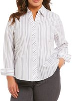 Investments Plus Gold Label Non-Iron Long Sleeve Button Front Shirt