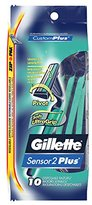 Gillette Sensor2 Plus Pivot Men's Disposable Razor, 10 count, (Pack of 3)