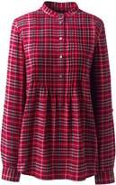 Lands'end Women's Plus Size Flannel Tunic Top