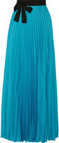 Issa Felicity pleated satin maxi wrap skirt