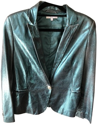 Faith Connexion Green Leather Leather Jacket for Women