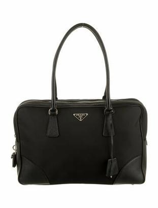 Prada Bowler Tessuto Bag Black