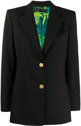Versace Jungle print lined blazer