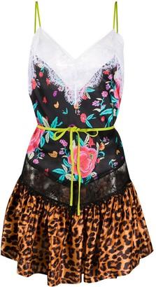 ATTICO Multi-Print Mini Dress