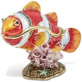 Jere Collections Bejeweled Pewter Enamel Clown Fish Trinket Box