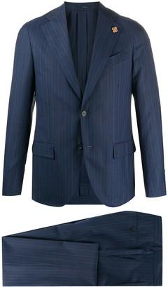 Lardini Pinstripe Single-Breasted Suit