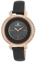 Burgmeister Women's ' Quartz Stainless Steel and Leather Casual Watch, Color:Black (Model: BM808-322)