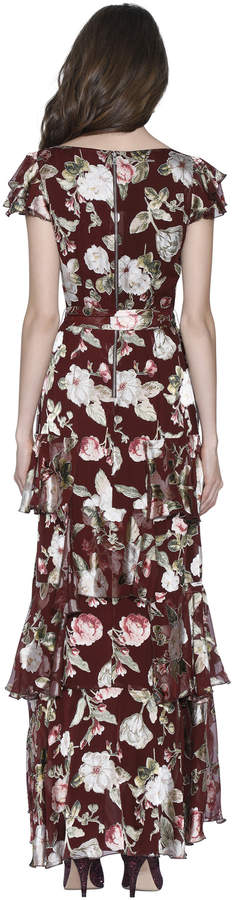 Alice + Olivia JENNY FLUTTER SLEEVE MAXI DRESS