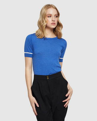 Oxford Women's Jumpers - Grace Short Sleeve Knit - Size One Size, 6 at The Iconic