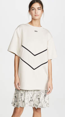 Off-White Sweatshirt Dress