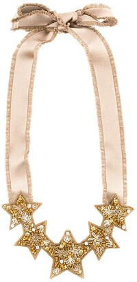 RED Valentino RED(V) beaded star necklace