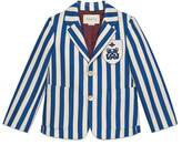 Gucci Children's striped cotton jacket with crest