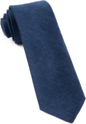 Tie Bar Festival Textured Solid Navy Tie