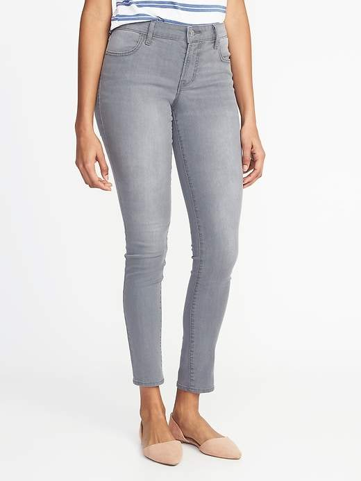 Old Navy Mid-Rise Gray-Wash Super Skinny Jeans for Women