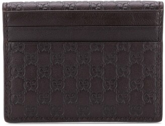 Gucci embossed GG card holder