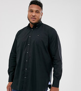 Tommy Hilfiger Big & Tall classic logo plain shirt in black