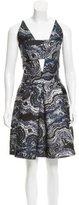Osman Brocade A-Line Dress