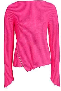 Generation Love Women's Sadie Cashmere & Merino Wool Asymmetric Sweater
