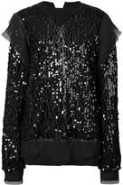 Sacai sequin-embellished top