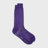 Paul Smith Men's Violet Cotton Socks