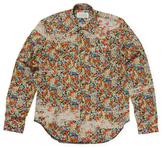 Maison Margiela Printed Spread Collar Cotton Sportshirt