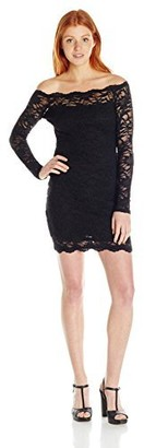 Jump Junior's Short Stretch Lace Dress with Scallop Trim
