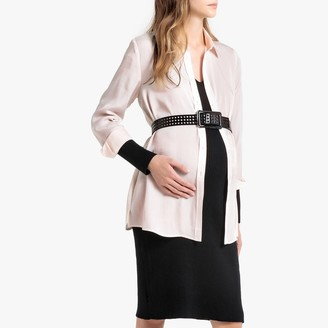 La Redoute Collections Plain Maternity Shirt with Long Sleeves