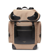 Givenchy Rider Leather-Trimmed Canvas Backpack