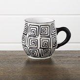 Crate & Barrel Black Swirl Mug