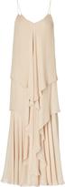 Ralph Lauren Bernadine Tiered Silk Gown