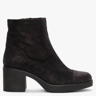 Alba Moda Black Metallic Ankle Boots