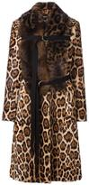Givenchy mix fur leopard print coat - women - Goat Skin/Acrylic/Polyester/Muskrat - 38