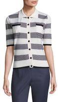 Piazza Sempione Striped Spread Collar Shirt