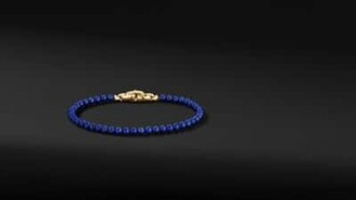 David Yurman Spiritual Beads Bracelet With Lapis And 18K Yellow Gold