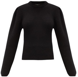 Lemaire Balloon-sleeve Ribbed Wool Sweater - Black