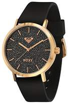 Roxy Women's RX/1008BKRG The Royal Rose Gold-Tone Stainless Steel Watch With Black Silicone Band