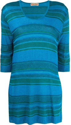 Issey Miyake Pre Owned 1980s Striped Tunic Top