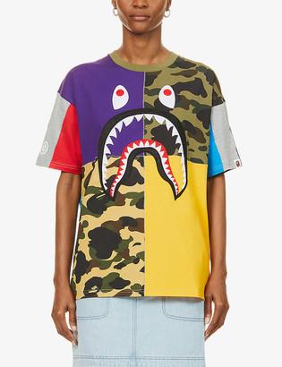 BAPE Shark graphic-print oversized cotton-jersey T-shirt