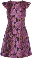 Karen Millen Rose Bouquet Dress - Purple