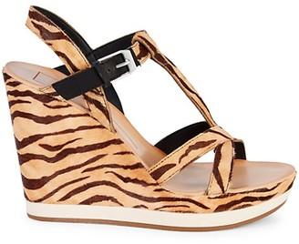 Dolce Vita Natiah Tiger Calf Hair Platform Sandals