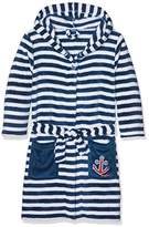 Playshoes Boy's Fleece Bathrobe Maritime Dressing Gown